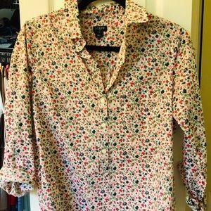 Jcrew floral popover shirt